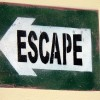 Escape sign