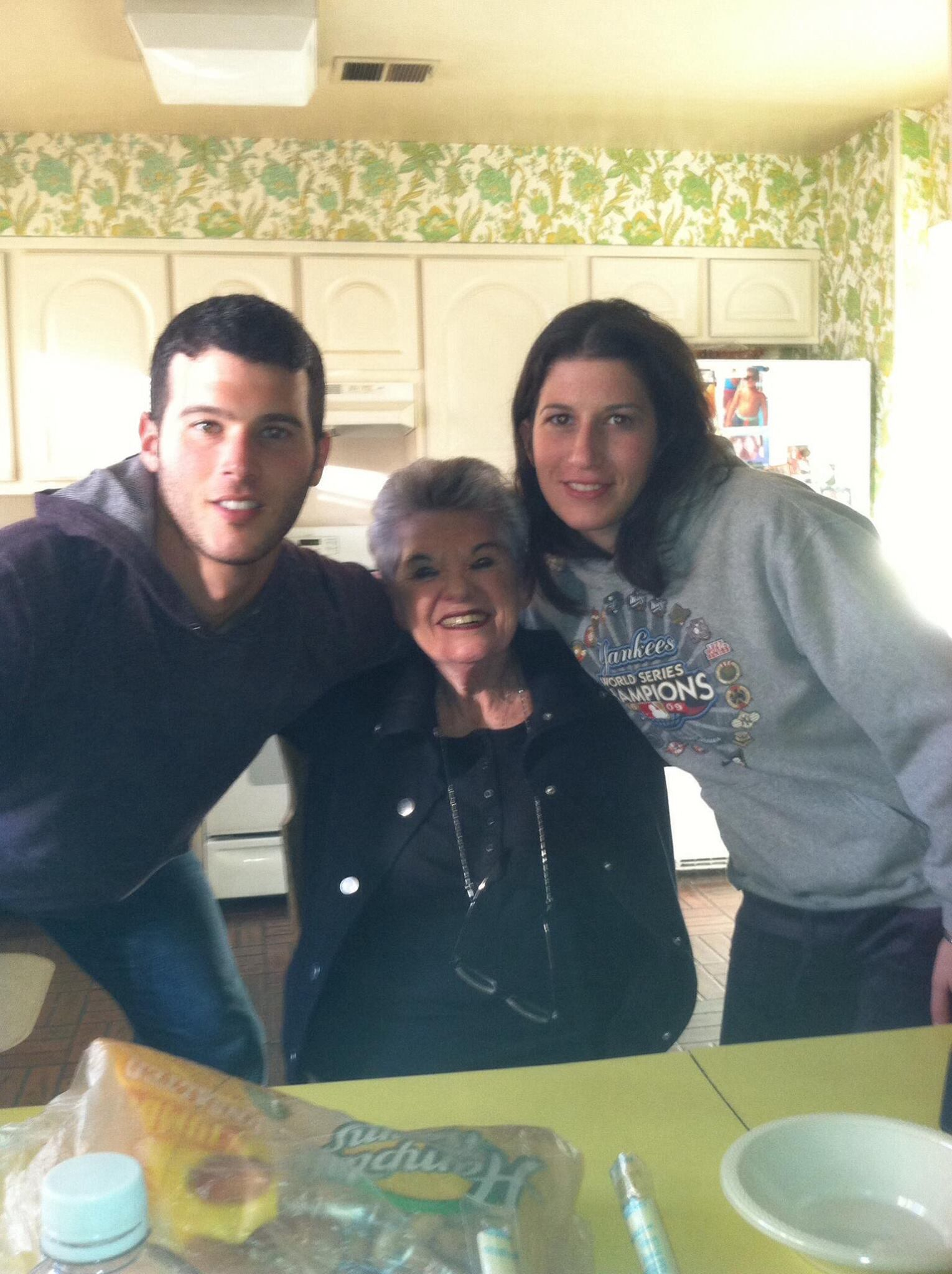 Jeremy (my brother), Gran, and I